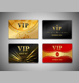 Small vip cards design set vector image vector image