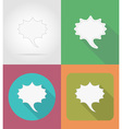 speech bubbles flat icons 08 vector image vector image