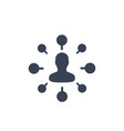 Stockholder financier icon isolated on white