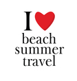 summer and beach icon vector image vector image