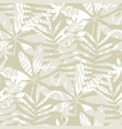 tropical seamless pattern in natural gray color vector image