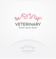 veterinary center logo vector image vector image