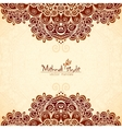 Vvintage flowers ethnic background in Indian vector image vector image