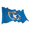 waving flag northern mariana islands vector image vector image