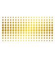 woman profile golden halftone matrix vector image vector image