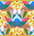 yellow blue and neutral hand drawn pattern vector image vector image