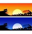 animal silhouete background vector image