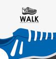 walk design vector image