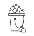 apple fruit harvest line icon sign vector image