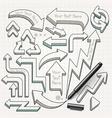 Arrows doodles hand drawn vector image