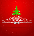Christmas lettering greetings card with origami vector image
