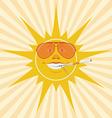 sun and cigarette vector image