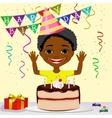 african american boy boy celebrating his birthday vector image