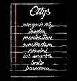citys typography graphic design vector image