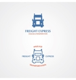 logo with a set of delivery truck vector image