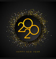 2020 happy new year with gold number vector image