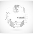 abstract technology background print circuit vector image