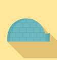 alaska igloo icon flat style vector image vector image