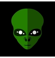 Alien flat icon vector image vector image