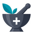 alternative medicine icon vector image vector image