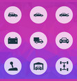 auto icons set collection of repairing stick vector image vector image