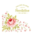 Awesome flower card vector image