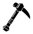 ax icon simple black style vector image vector image