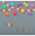 balloon and bunting vector image