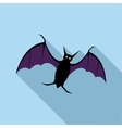 Bat icon flat style vector image vector image