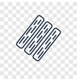 board concept linear icon isolated on transparent vector image