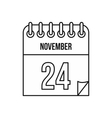 Calendar november twenty fourth icon vector image vector image