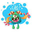 cartoon monster characters hi heello vector image vector image