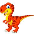 cartoon tyrannosaurus isolated on white background vector image vector image