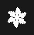 chunky marker snowflake vector image vector image