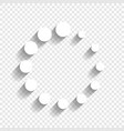circular loading sign white icon with vector image
