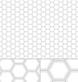 Clean HoneyComb seamless pattern vector image vector image