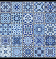 collection of different vintage tiles vector image vector image