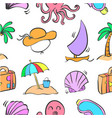 collection of summer element doodles vector image vector image
