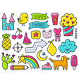 color doodles vector image vector image