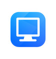 computer flat icon monitor glossy icon isolated vector image