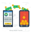 concept mobile money transfering vector image vector image