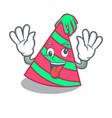crazy party hat mascot cartoon vector image