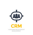 crm customer relationship management icon vector image vector image