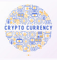 cryptocurrency concept in circle vector image vector image