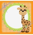 Cute teplate for postcard with giraffe vector image vector image
