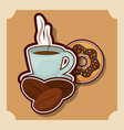 delicious and hot coffee drink vector image vector image