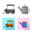 design of farm and agriculture icon vector image