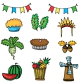 Doodle of cartoon thanksgiving element vector image vector image