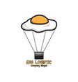 egg logistic logo design vector image vector image