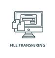 file transfering line icon linear concept vector image vector image